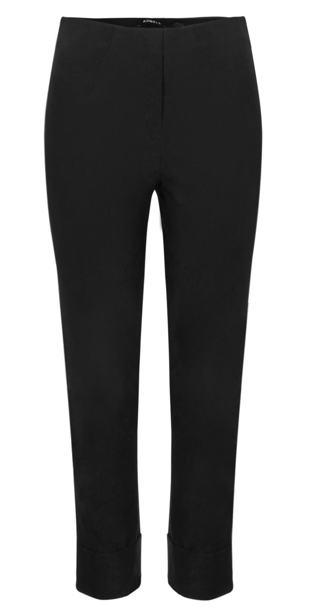 Bella 09 Black Ankle Length Crop Cuff Trouser main image