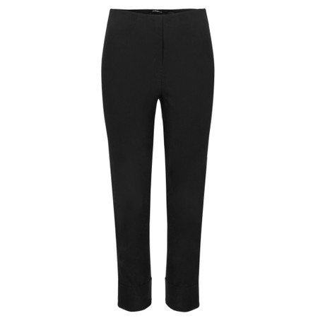 Robell Bella 09 Black Ankle Length Crop Cuff Trouser - Black