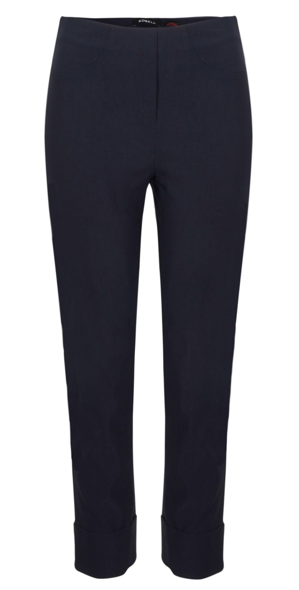 Bella 09 Navy Ankle Length Crop Cuff Trouser main image