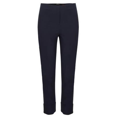 Robell Bella 09 Navy Ankle Length Crop Cuff Trouser - Blue