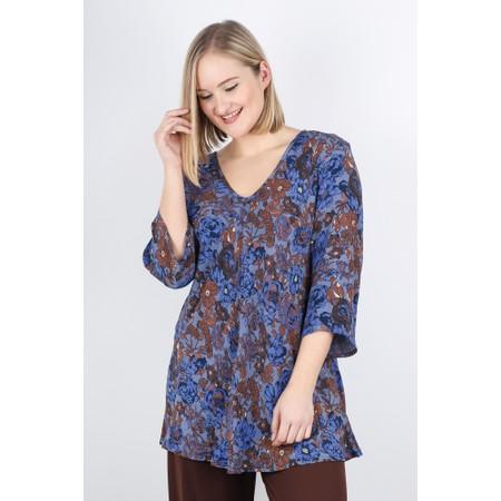 Masai Clothing Kata Floral Top - Blue