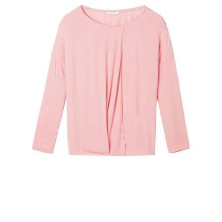 Sandwich Outlet  Woven Drape Blouse - Pink