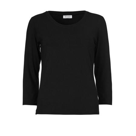 Masai Clothing Cream Basic Top - Black