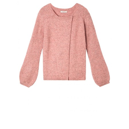 Sandwich Outlet  Bell Sleeve Cardigan - Pink