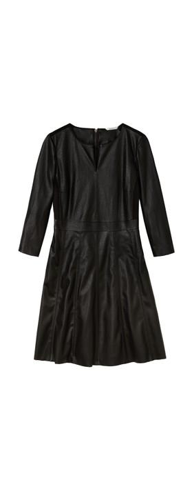 Sandwich Outlet Faux Leather Dress Black