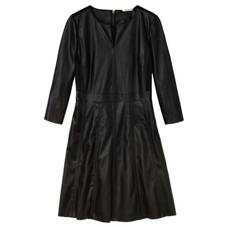 Sandwich Outlet  Faux Leather Dress - Black