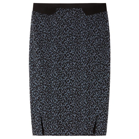 Sandwich Outlet  Leopard Jacquard Skirt - Grey