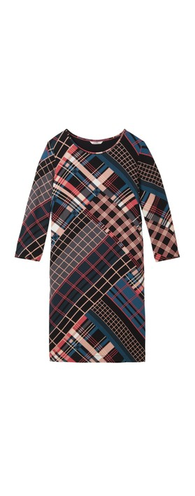 Sandwich Clothing Bold Multi Check Print Dress Intense Pink