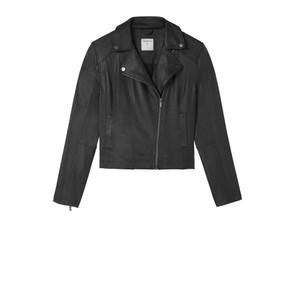 Sandwich Clothing Waxy Suedine Biker Jacket