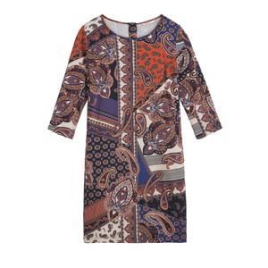 Sandwich Clothing Paisley Collage Print Dress