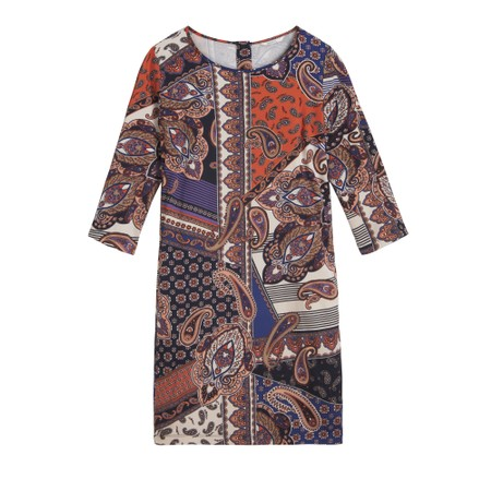 Sandwich Clothing Paisley Collage Print Dress - Red