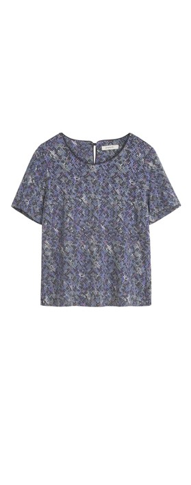 Sandwich Clothing Snakeskin Print Blouse Velvet Lilac