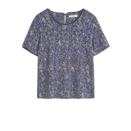 Sandwich Clothing Snakeskin Print Blouse - Purple