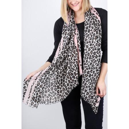 Gemini Label  Leni Leopard Scarf - Pink