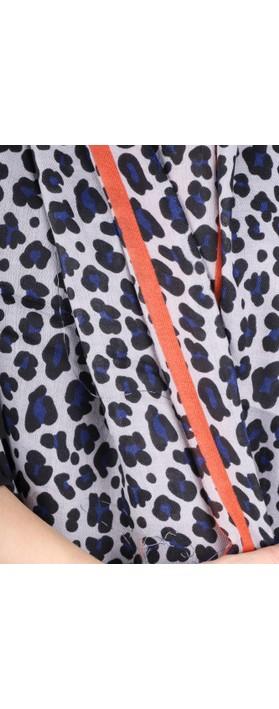Gemini Label  Leni Leopard Scarf Orange