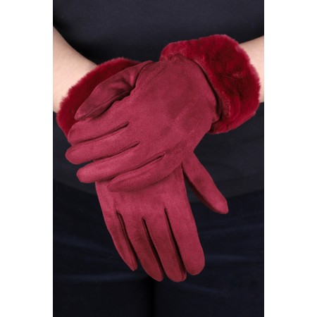 Gemini Label  Nala Fur Trimmed Gloves - Purple