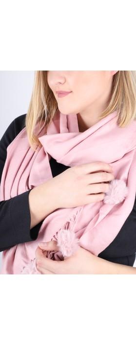 Gemini Label Accessories Penny Pom Shawl Scarf Blush Pink