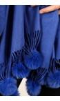 Gemini Label Accessories Blue Penny Pom Shawl Scarf