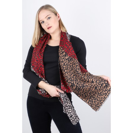 Gemini Label  Senna Supersoft Snow Leopard Scarf - Grey