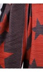 Gemini Label Accessories Red Revo Stars Reversible Scarf