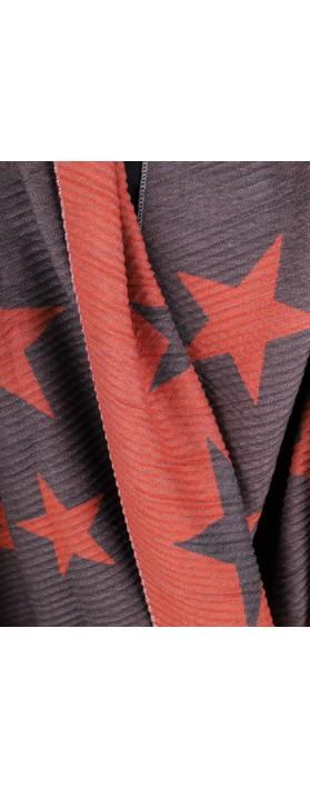 Gemini Label Accessories Revo Stars Reversible Scarf Orange