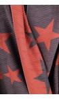 Gemini Label Accessories Orange Revo Stars Reversible Scarf