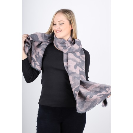 Gemini Label  Yuka Camouflage Scarf - Pink