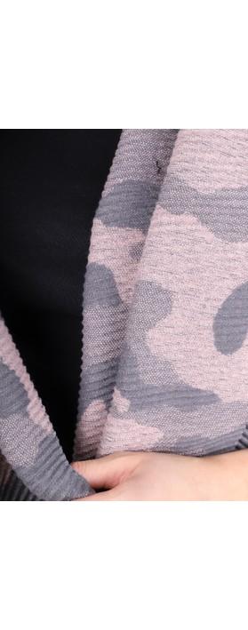 Gemini Label Accessories Revo Camo Scarf Pink