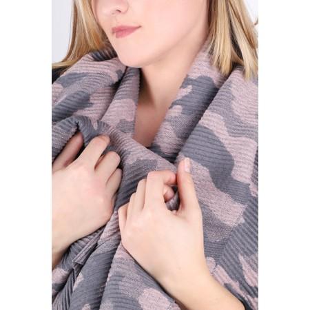 Gemini Label Accessories Revo Camo Scarf - Pink