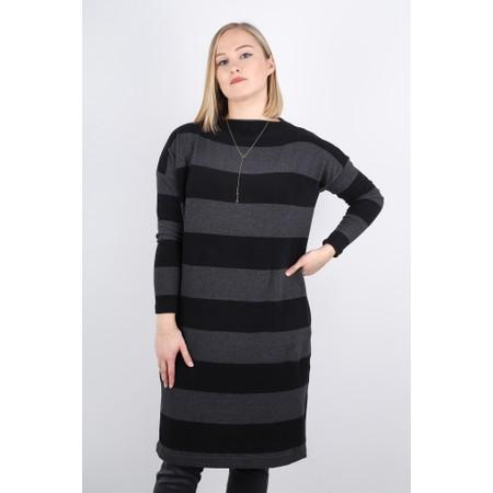 Mama B Rabat Stripe Tunic Dress - Grey