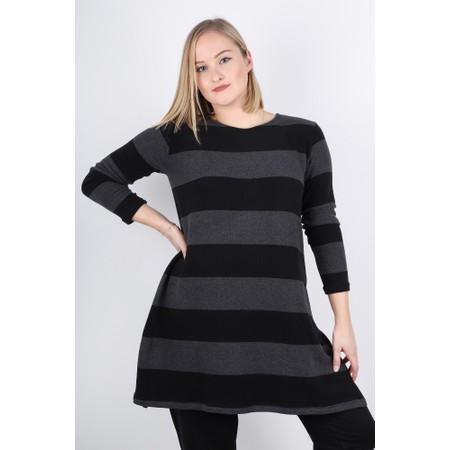 Mama B Carmen Stripe Tunic Top - Grey