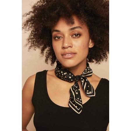 Masai Clothing Ava SIlk Star Scarf - Black