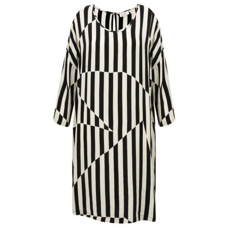 Masai Clothing Nitassa Stripe Dress - Black