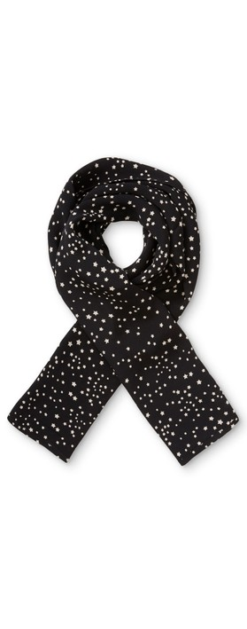 Masai Clothing Along Starry Print Scarf Black