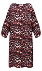 Masai Clothing Rio Red Nonny Abstract Animal Piint Dress