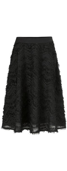 Masai Clothing Sultana Feather Detail Skirt Black