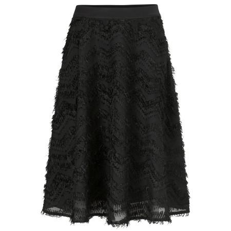 Masai Clothing Sultana Feather Detail Skirt - Black