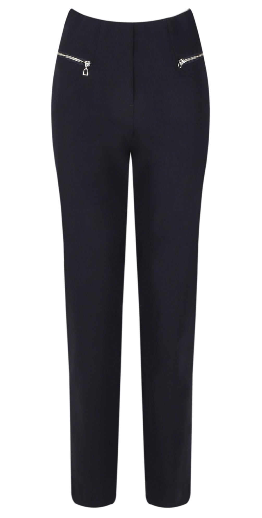 Mimi Navy 75cm Zip Pocket Trouser main image