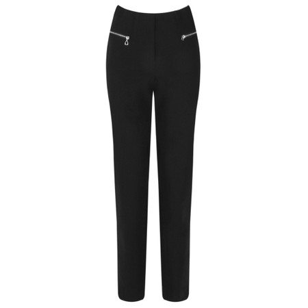 Robell Mimi Black 75cm Zip Pocket Trouser - Black