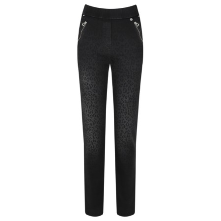 Robell  Nena 78cm Animal Print Denim Jeans - Grey