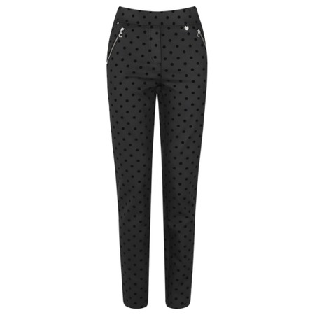 Robell  Nena 78cm Coated Denim Velvet Spot Jean  - Black