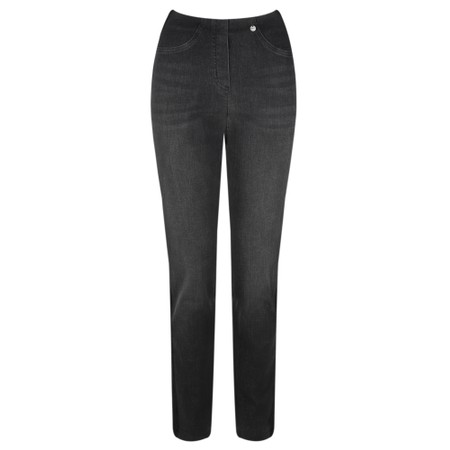 Robell  Bella 78cm Glitter Side Stripe Jeans - Black