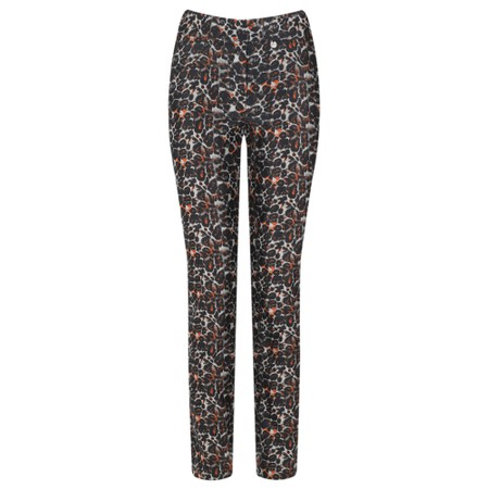 Robell  Rose 78cm Animal Print Trouser - Grey