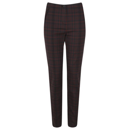 Robell  Holly Smart Check Trouser - Red