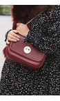 Hill & Friends Oxblood Happy Cross Body Chain Bag
