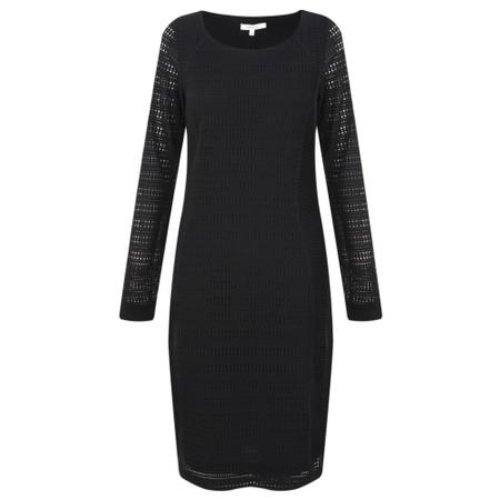 Sandwich Outlet  Crochet Lace Jersey Dress - Black