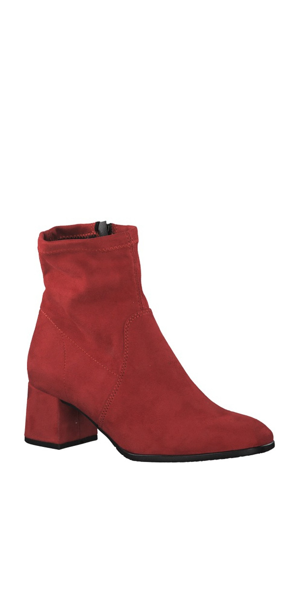 Lipstick Nadda Stretch Ankle Boot Block Heel