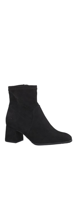 Nadda Stretch Ankle Boot Block Heel Black