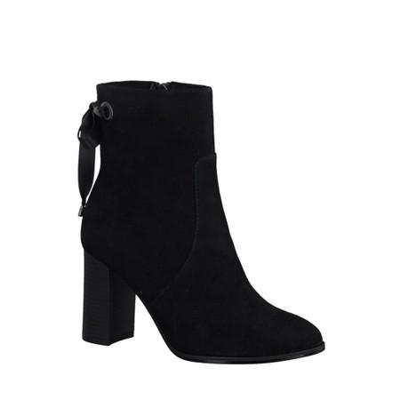 Tamaris  Francesca Stretch Ankle Boot Block Heel - Black