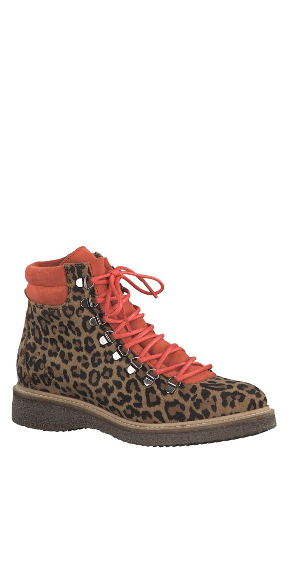 Castanha Leo Print Leather Hiker Boot main image